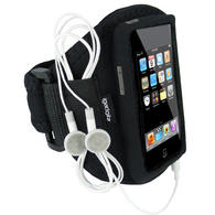 View Item iGadgitz Water Resistant Neoprene Gym Jogging Armband for iPod Touch 1st, 2nd, 3rd and 4th Generation 8gb, 16gb, 32gb &amp; 64gb